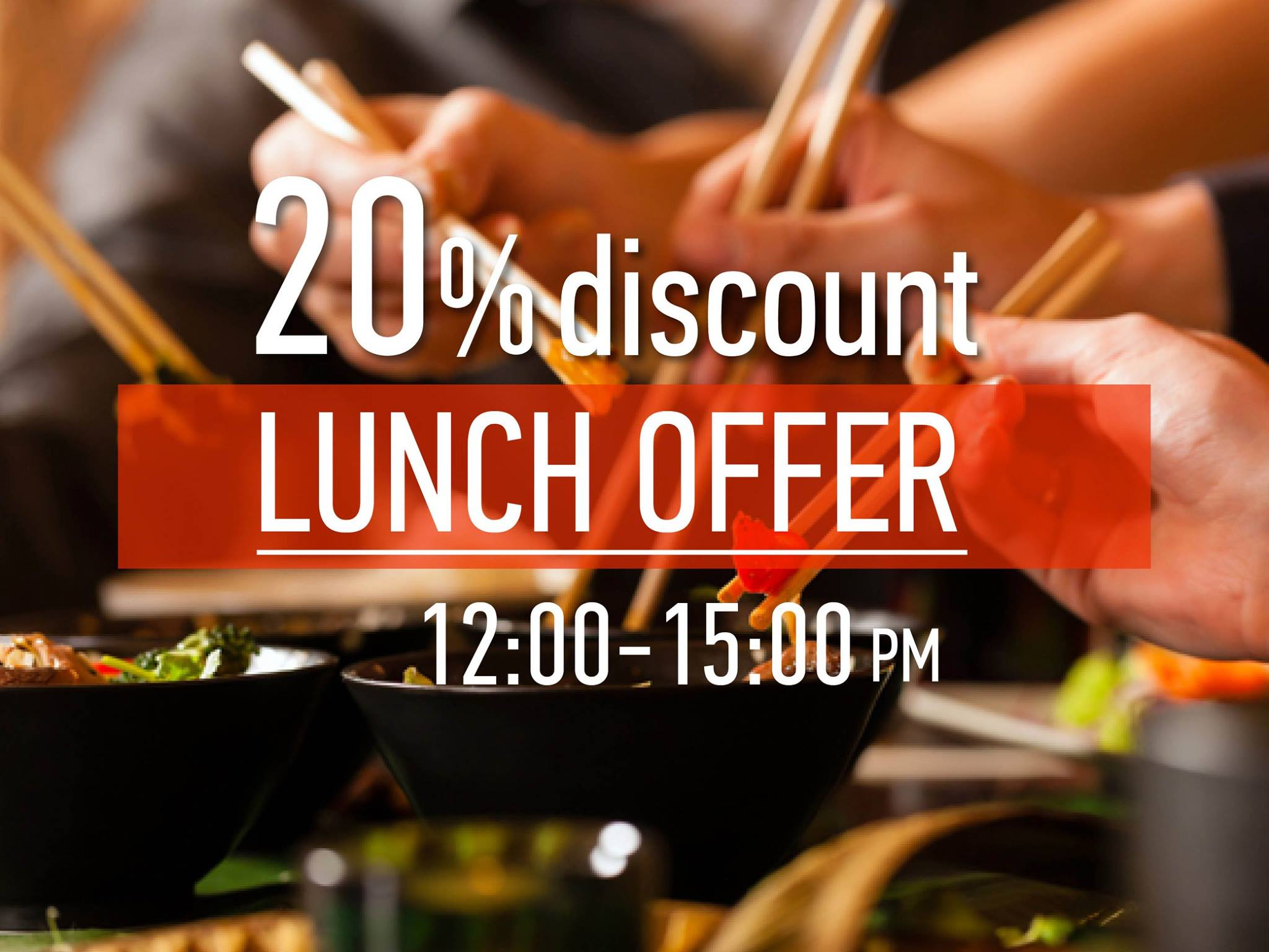 -20% Lunch